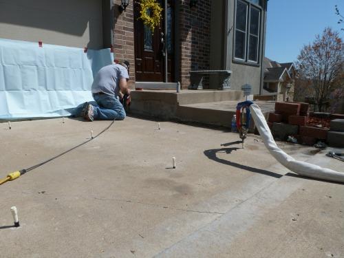 Choose Concrete Raising Systems, Kansas City, MO for all your polyurethane foam concrete lifting jobs.