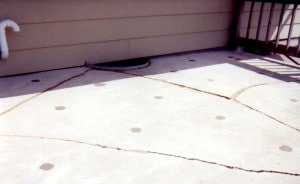 After photo of cracks i the driveway and foam lifting by Concrete Raising Systems 7318 N Donnelly Ave. Kansas City,MO 64158