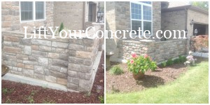 We are experts at concrete porch repair for patios that are sinking. Your concrete was poured on ground that has had the moisture removed and it is now sinking. Traditional mud jacking cannot repair the concrete patio the way polyurethane mud jacking can. Call Concrete Raising Systems in Kansas City,MO to repair your concrete patio once and for all!