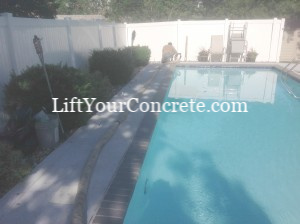 If your pool deck is sinking, you need to Pool Deck repair by Concrete Raising Systems 7318 N Donnelly Ave. Kansas City,MO 64158.