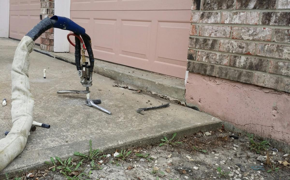 Concrete Slab Lifting : Before and after photos concrete slab lifting