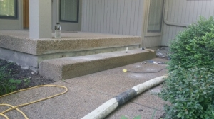 Before-Sinking-Concrete-Steps-(2)Concrete-Raising-Systems-7318-N-Donnelly-Ave-Kansas-City-MO-64158