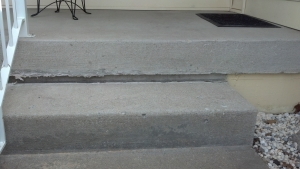 Concrete Porch reair Before