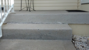 Concrete Porch repair after