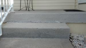 Concrete Porch repair after